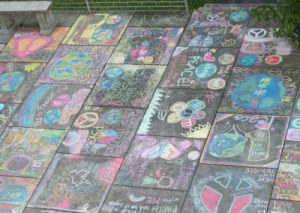 Youth Art Work during Chalk4Peace Event